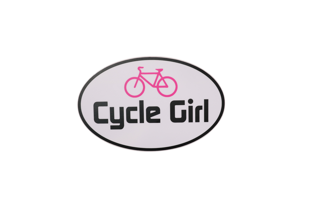 """Cycle Girl"" Bicycle Sticker"
