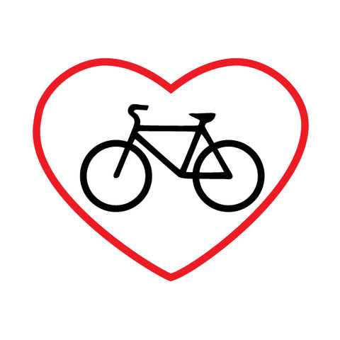 Bike in Red Heart Outline