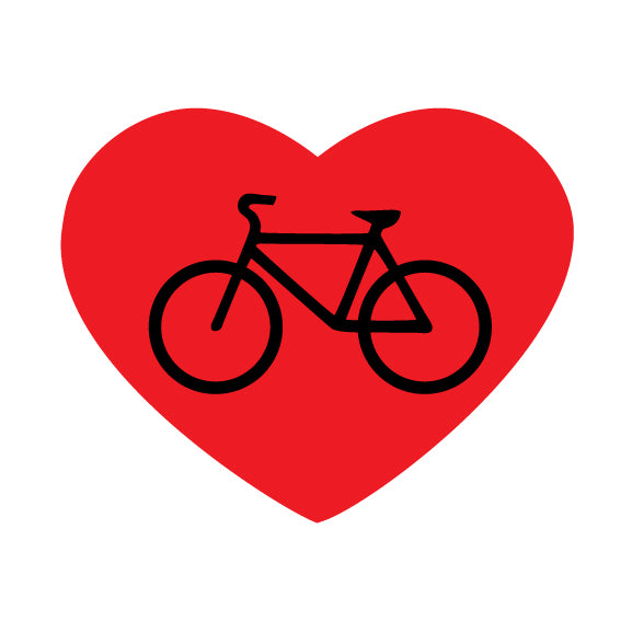Red Heart with Bike
