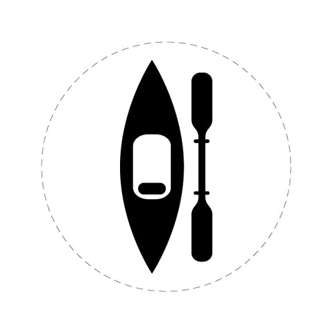 Kayak with Single Paddle