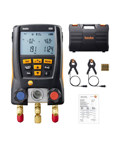 Testo 550 - 2-Valve Digital Manifold Kit
