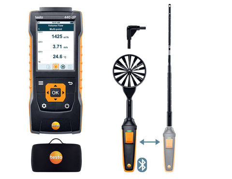 Testo 440 dP - Air flow ComboKit 1 with Bluetooth and delta P