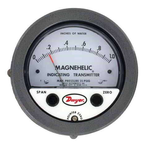 DWYER Series 605 Magnehelic Differential Pressure Indicating Transmitter
