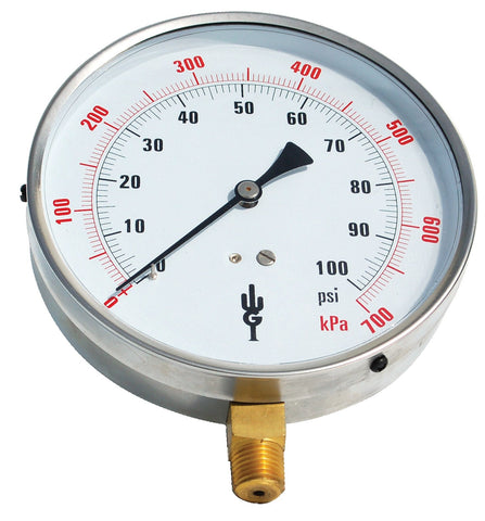 Contractor Pressure Gauge (H.V.A.C.) (QTY: 5)