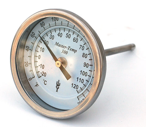 Master-Temp 200 Bimetal Thermometer - Temperature Gauge (QTY: 5)