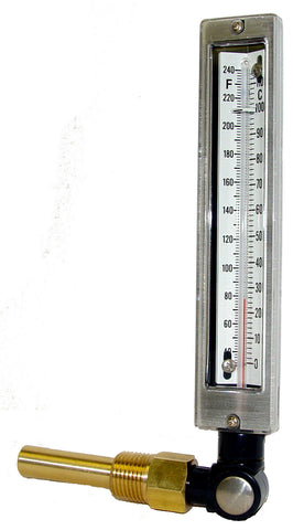 "Industrial Thermometer-  7"" Adjustable Angle"