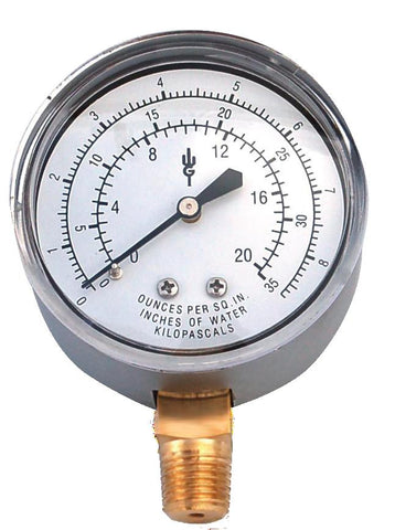 Brass Diaphragm Pressure Gauges (Dry) (QTY: 1)