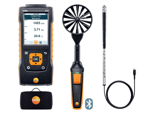 Testo 440 - Airflow ComboKit 2 with Bluetooth
