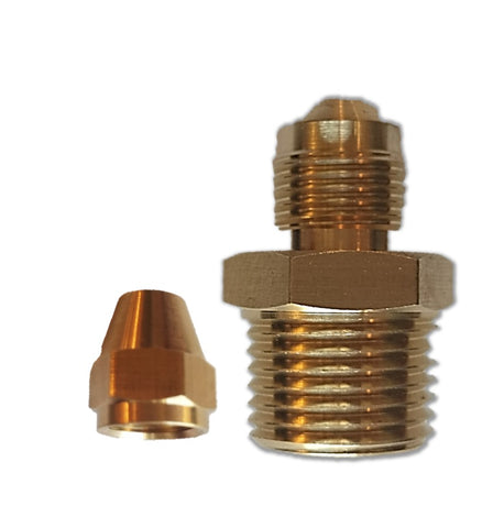 Brass Flare Fitting Connector (Pack of 10)