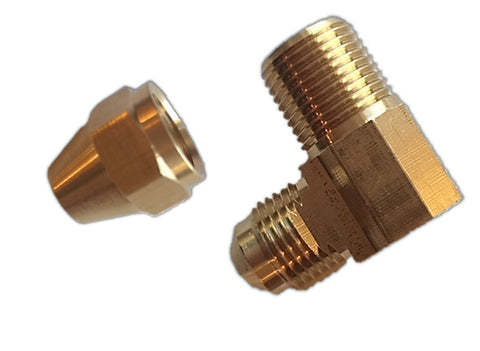 Brass Flare Fitting Elbow (Pack of 10)