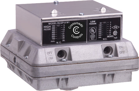 HLGP-A - High/Low Double Gas Pressure Switch - Manual Reset