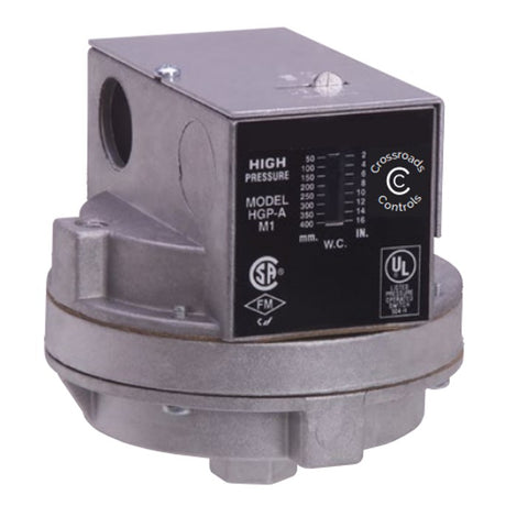 HGP-A - High Gas Pressure Switch - Manual Reset