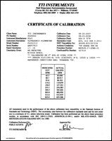 NIST-Traceable Calibration with Calibration Certificate