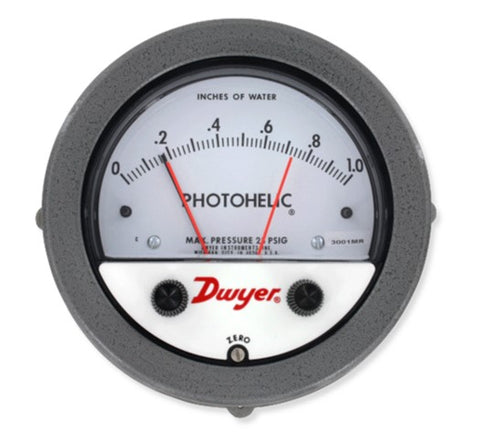 Dwyer Series 3000MR Photohelic Switch / Gage