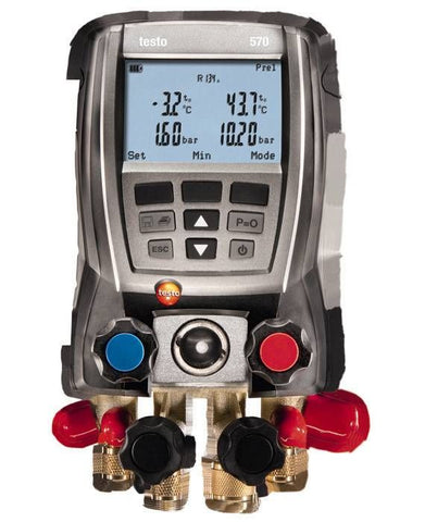 Testo 570 - Four Valve Digital Manifold Kit