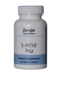 Zongle Therapeutics - 5-MTHF Folate Supplement - 1 mg - 120 Vegetarian Capsules