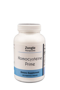 Zongle Therapeutics - Homocysteine Prime - 120 Vegetarian Caps - Vitamins B2, B6, B12, Folate, Zinc, Trimethylglycine (TMG), Choline, Serine and NAC