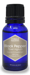 Zongle Black Pepper Essential Oil, India, Safe To Ingest, 15 mL