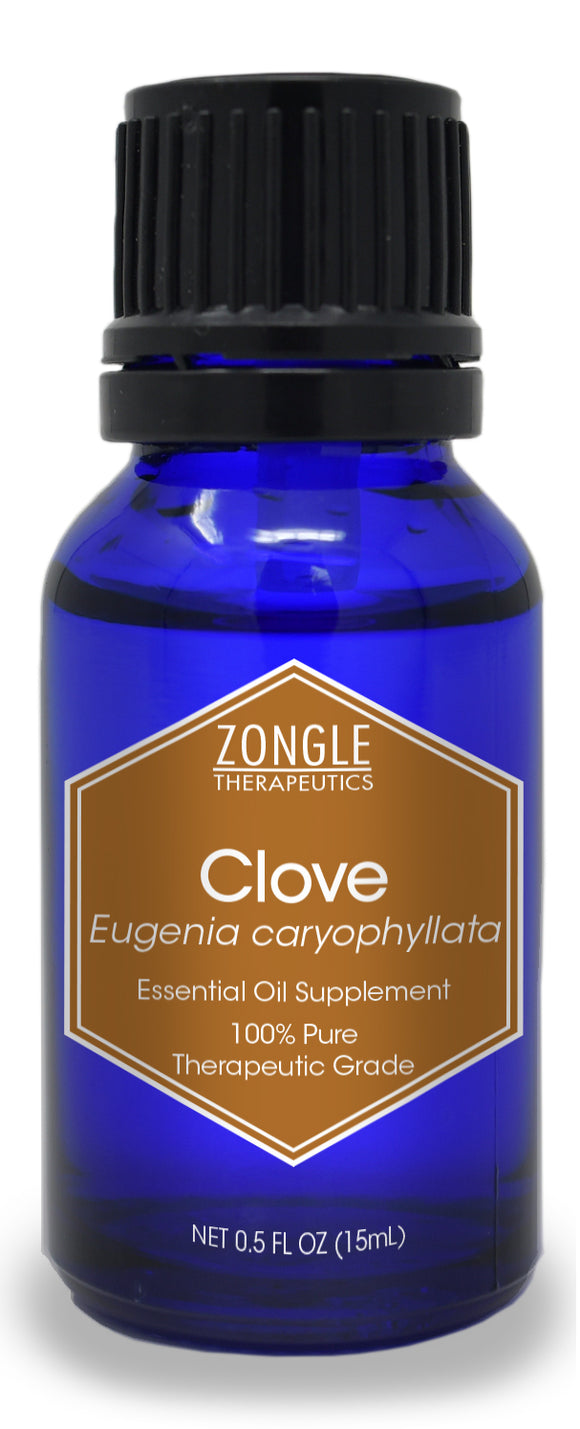 Zongle Clove Essential Oil, Indonesia, Safe To Ingest, 15 mL