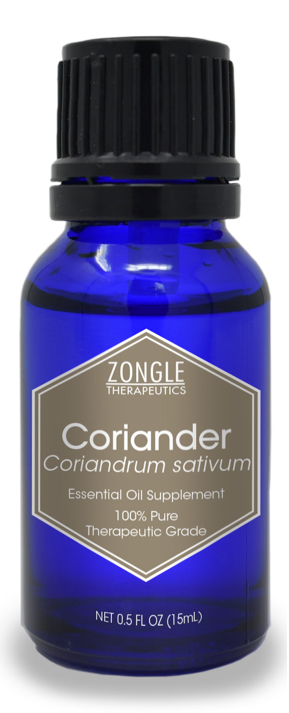 Zongle Coriander Essential Oil, Russia, Safe To Ingest, 15 mL