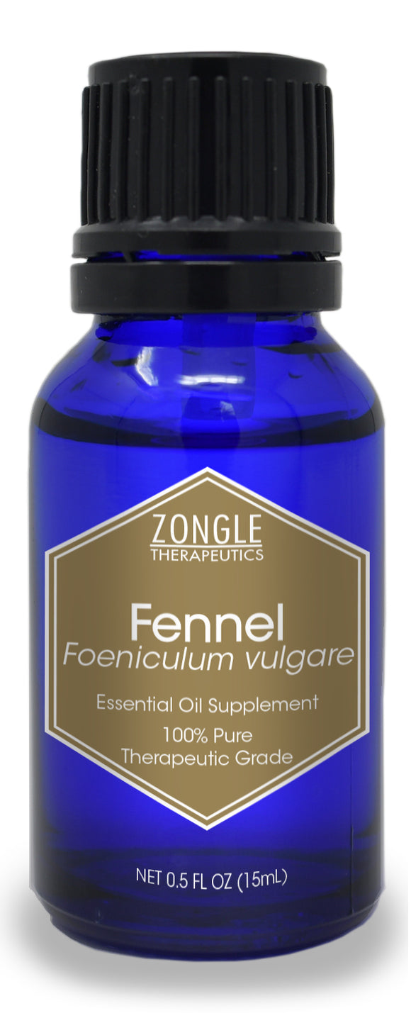 Zongle Fennel Essential Oil, Hungary, Safe To Ingest, 15 mL