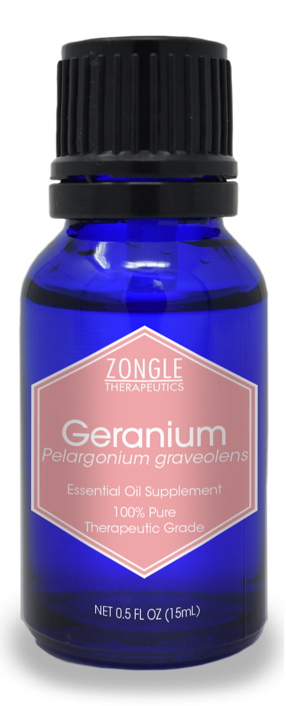 Zongle Geranium Essential Oil, Egypt, Safe To Ingest, 15 mL