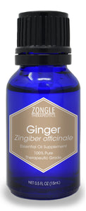 Zongle Ginger Essential Oil, India, Safe To Ingest, 15 mL