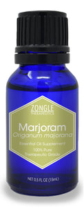Zongle Marjoram Essential Oil, Egypt, Safe To Ingest, 15 mL