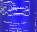 Zongle Oregano Essential Oil - Ingredients
