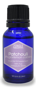Zongle Patchouli Essential Oil, Indonesia, Safe To Ingest, 15 mL