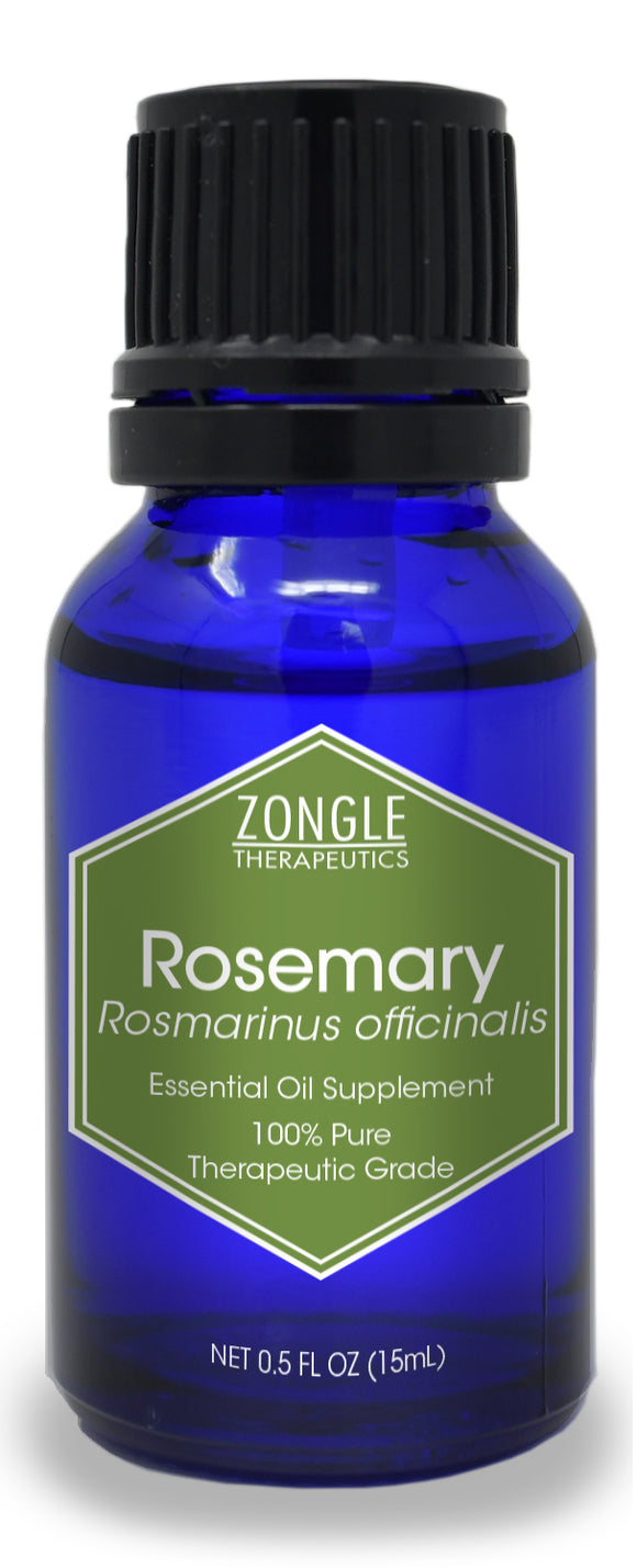 Zongle Rosemary Essential Oil, Spain, Safe To Ingest, 15 mL
