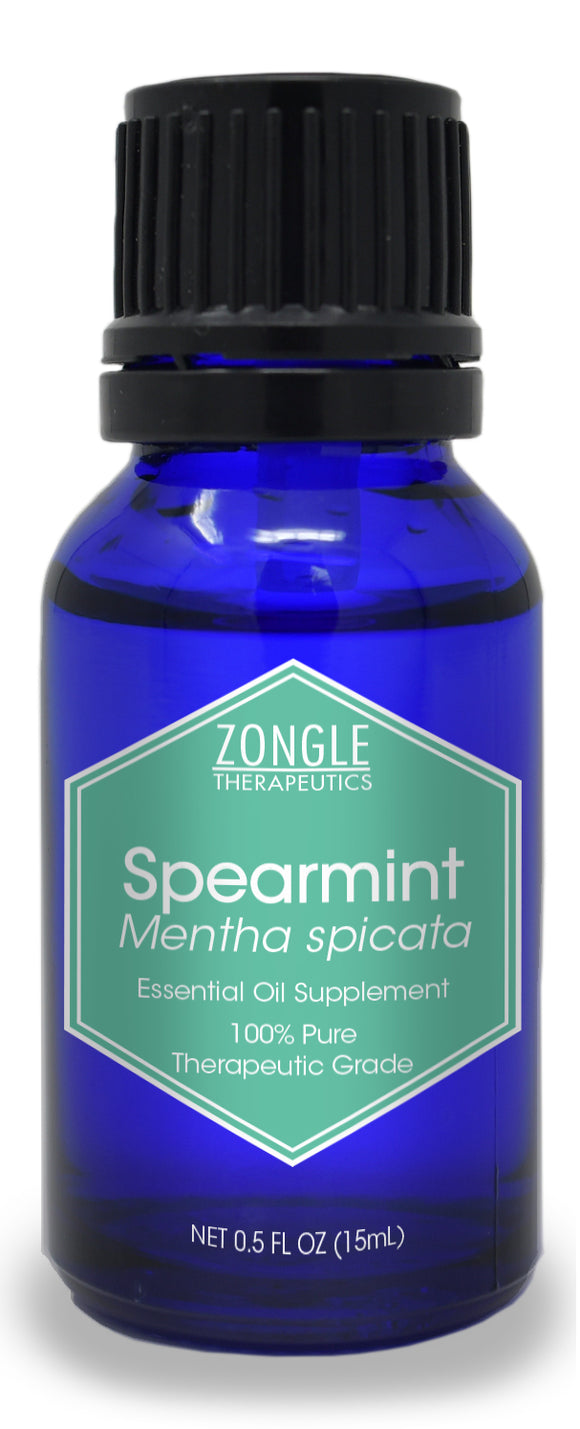 Zongle Spearmint Essential Oil, India, Safe To Ingest, 15 mL