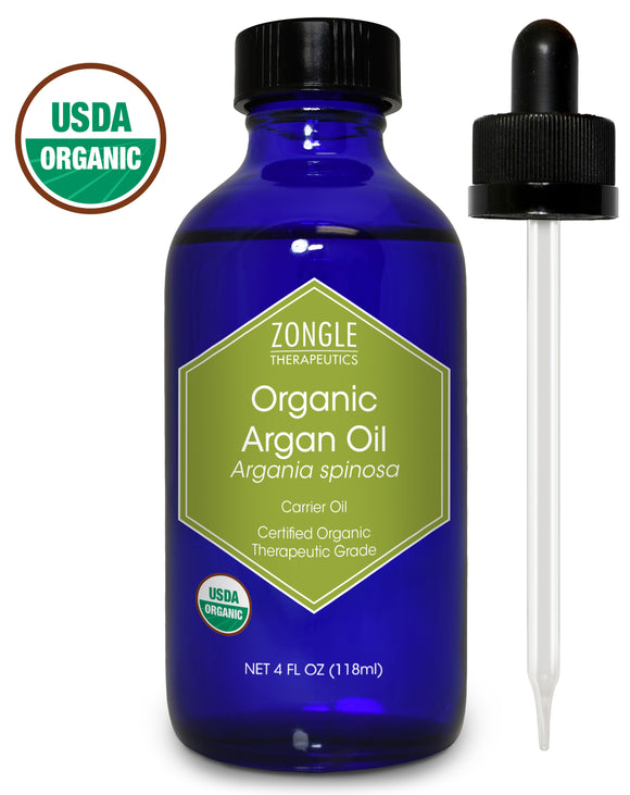 Zongle USDA Certified Organic Argan Oil, Moroccan, Argania Spinosa, 4 oz
