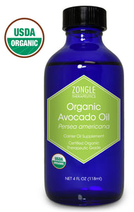 Zongle USDA Certified Organic Avocado Oil, Safe To Ingest, Persea Americana, 4 oz