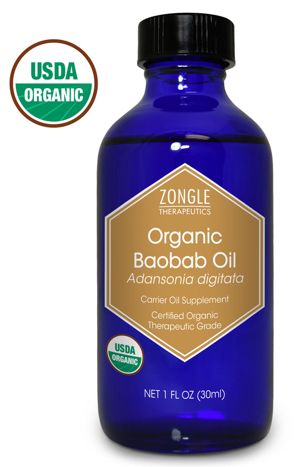 Zongle USDA Certified Organic Baobab Oil, West Africa, Safe To Ingest, Adansonia Digitata , 1 oz