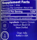 Zongle USDA Certified Organic Basil Essential Oil - Ingredients