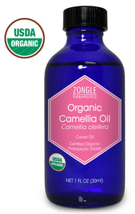 Zongle USDA Certified Organic Camellia Oil, Camellia Oleifera , 1 oz