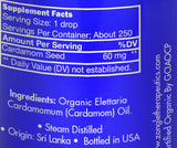 Zongle USDA Certified Organic Cardamom Oil - Ingredients