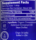 Zongle USDA Certified Organic Cinnamon (Leaf) Essential Oil - Ingredients