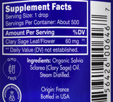 Zongle USDA Certified Organic Clary Sage - Ingredients