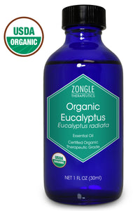 Zongle USDA Certified Organic Eucalyptus Oil, Eucalyptus Radiata, 1 oz