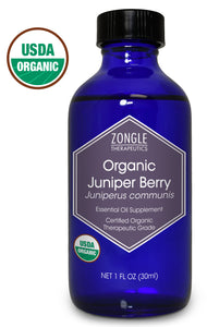 Zongle USDA Certified Organic Juniper Berry Essential Oil, Bulgaria, Safe To Ingest, Juniperus Communis, 1 oz