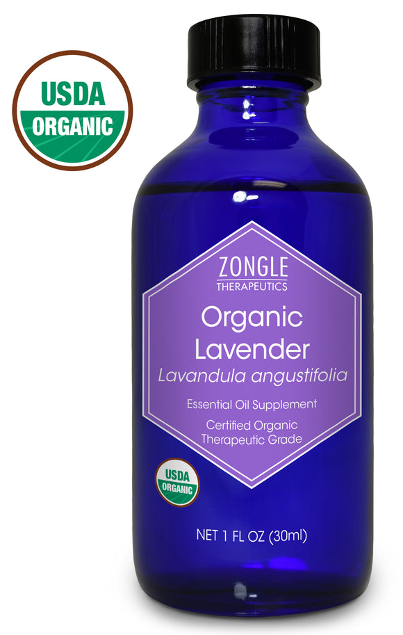 Zongle USDA Certified Organic Lavender Essential Oil, Bulgarian, Safe To Ingest, Lavandula Angustifolia, 1 oz