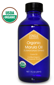 Zongle USDA Certified Organic Marula Oil, Africa, Unrefined Virgin, Cold Pressed, Sclerocarya Birrea, 1 oz