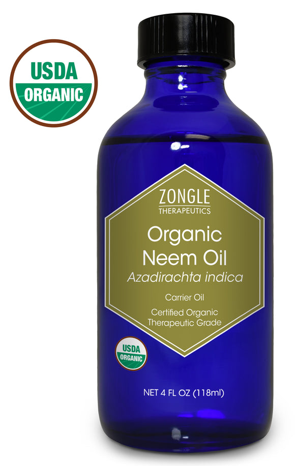 Zongle USDA Certified Organic Neem Oil, Azadirachta Indica , 4 oz