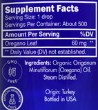 Zongle USDA Certified Organic Oregano Essential Oil - Ingredients