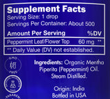 Zongle USDA Certified Organic Peppermint Oil - Ingredients