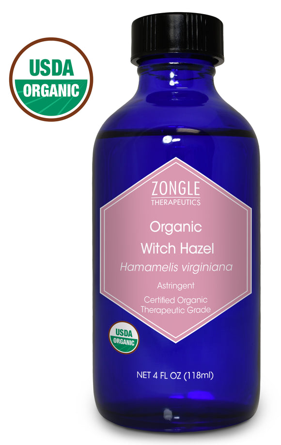 Zongle USDA Certified Organic Witch Hazel, Hamamelis Virginiana, 4 Oz