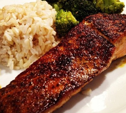 Cajun Salmon W/ Cauliflower Rice