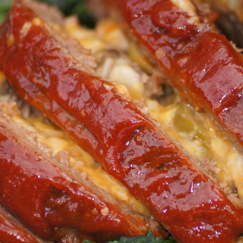 Cheddar Stuffed Meatloaf